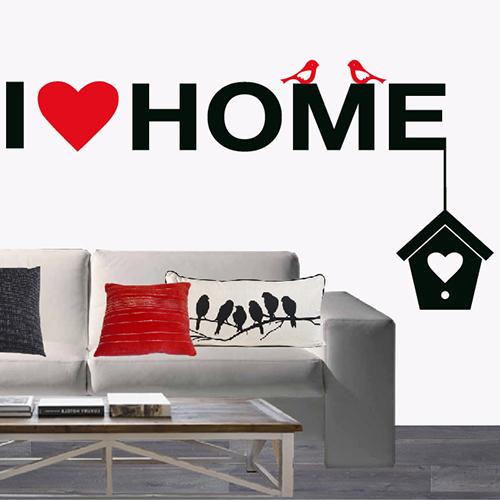 Muursticker I love home (2 kleurig)