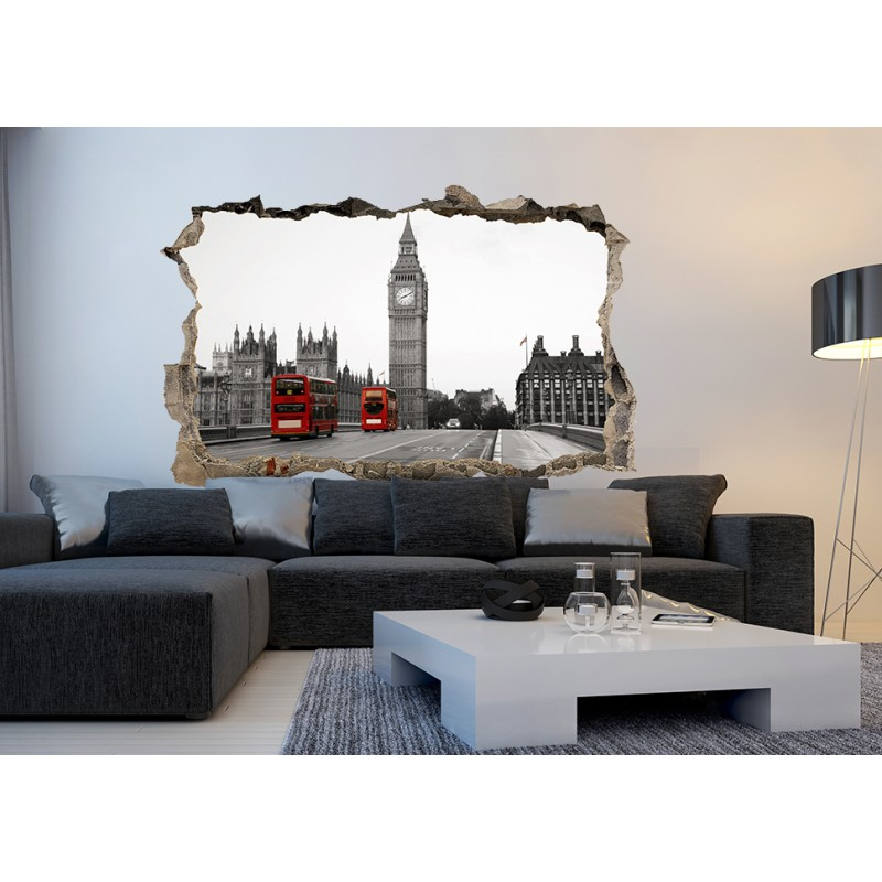 3D Muursticker Londen