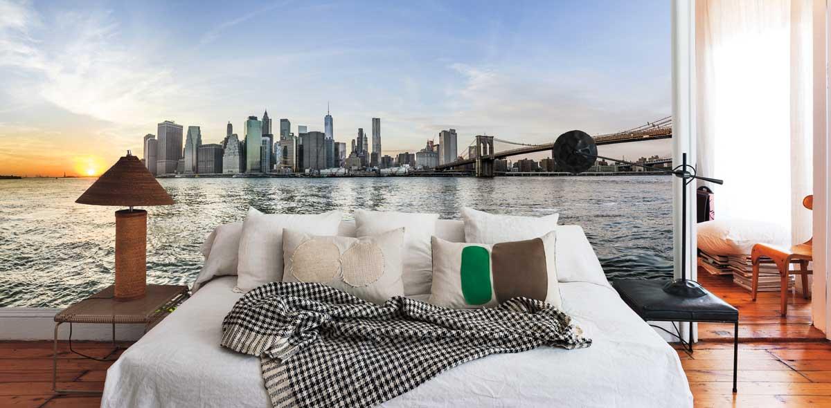 Vlies fotobehang Zicht op Manhattan