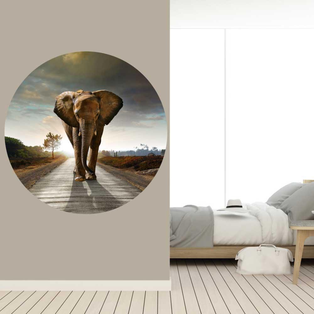 Behangcirkel Olifant