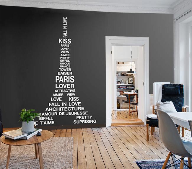 Muursticker Eifeltoren Parijs