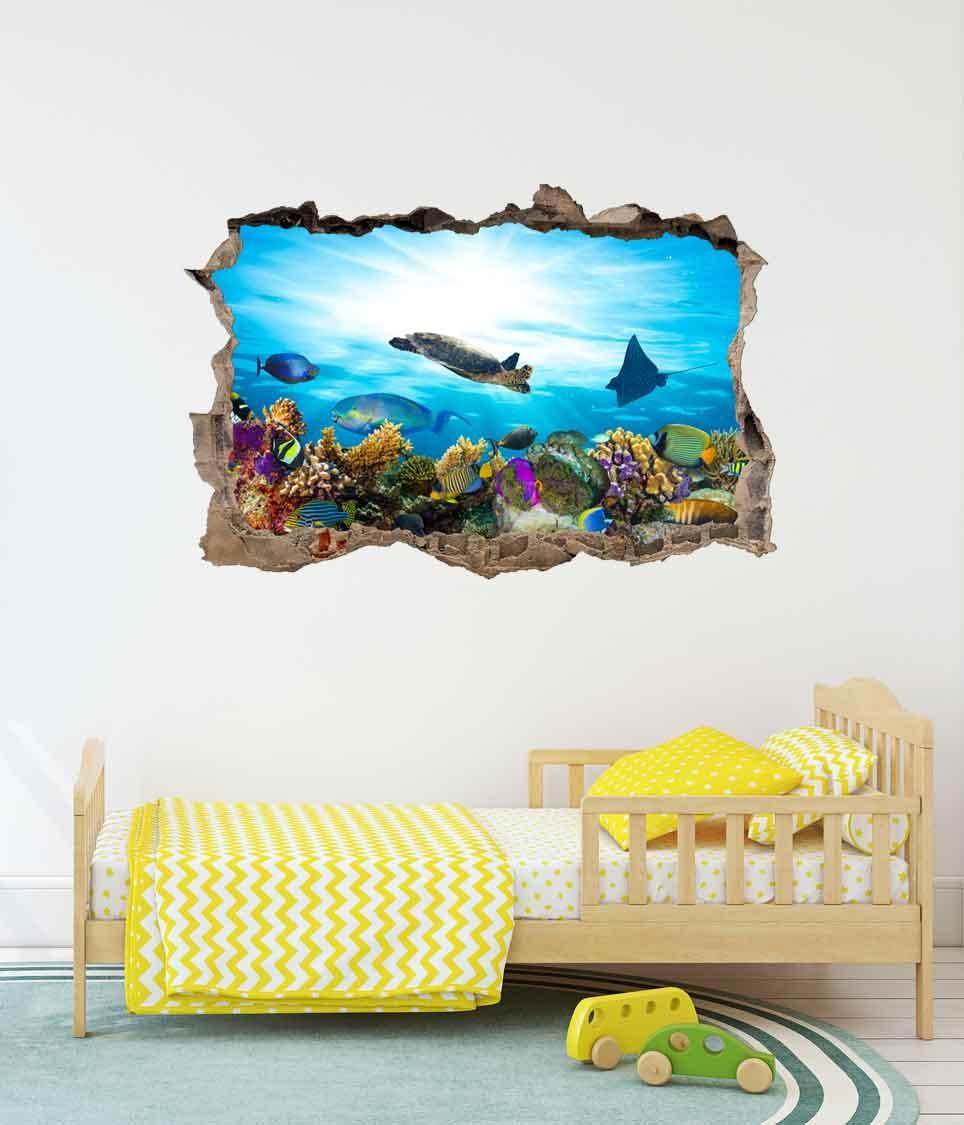 3D Muursticker Aquarium