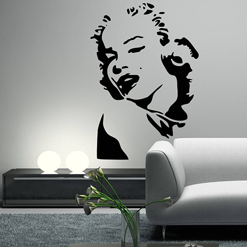 Interieursticker Marilyn Monroe portret