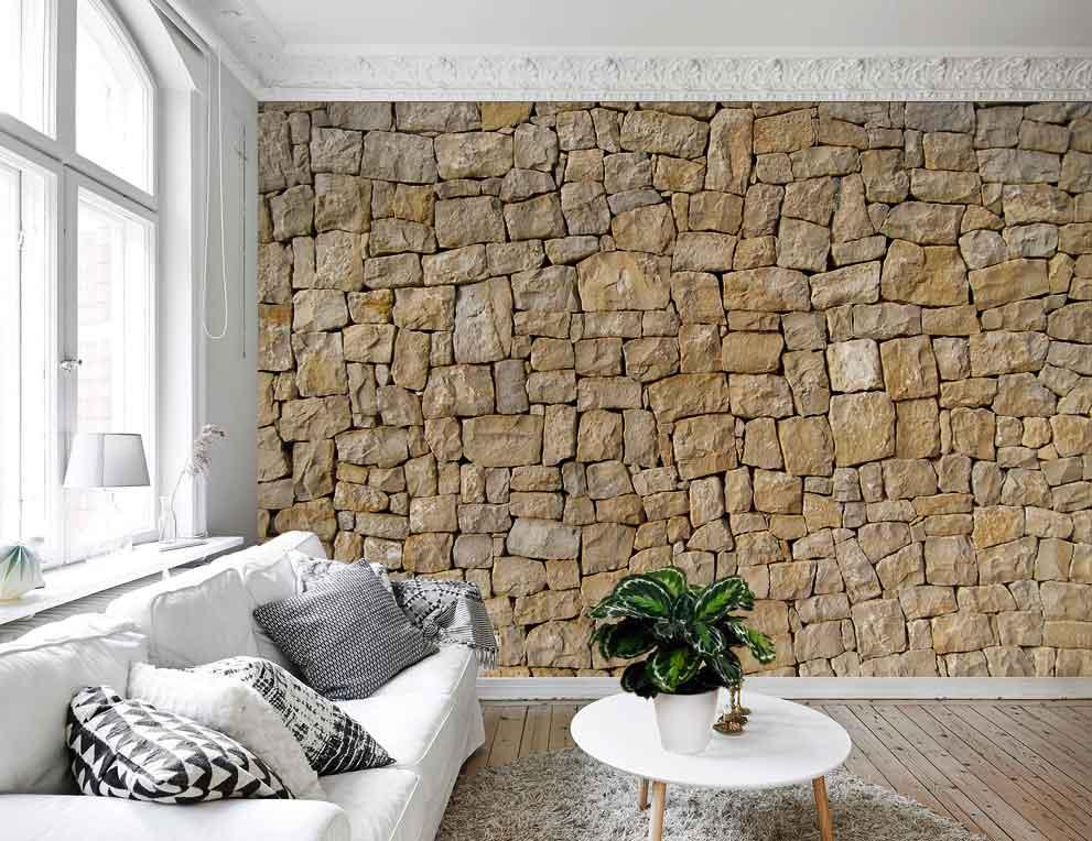 Vlies fotobehang Mediterrane stenen muur