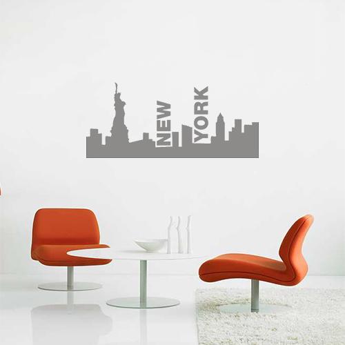 Skyline New York Grijs (aanbieding!)
