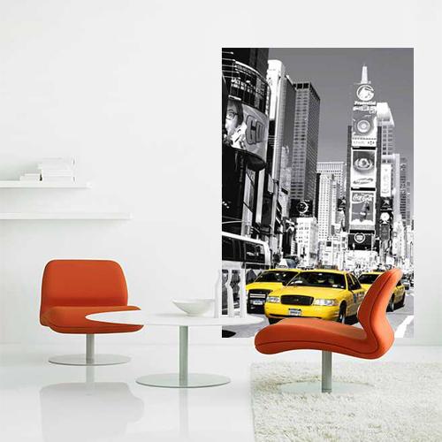 Muurposter Times Square (zwart wit)