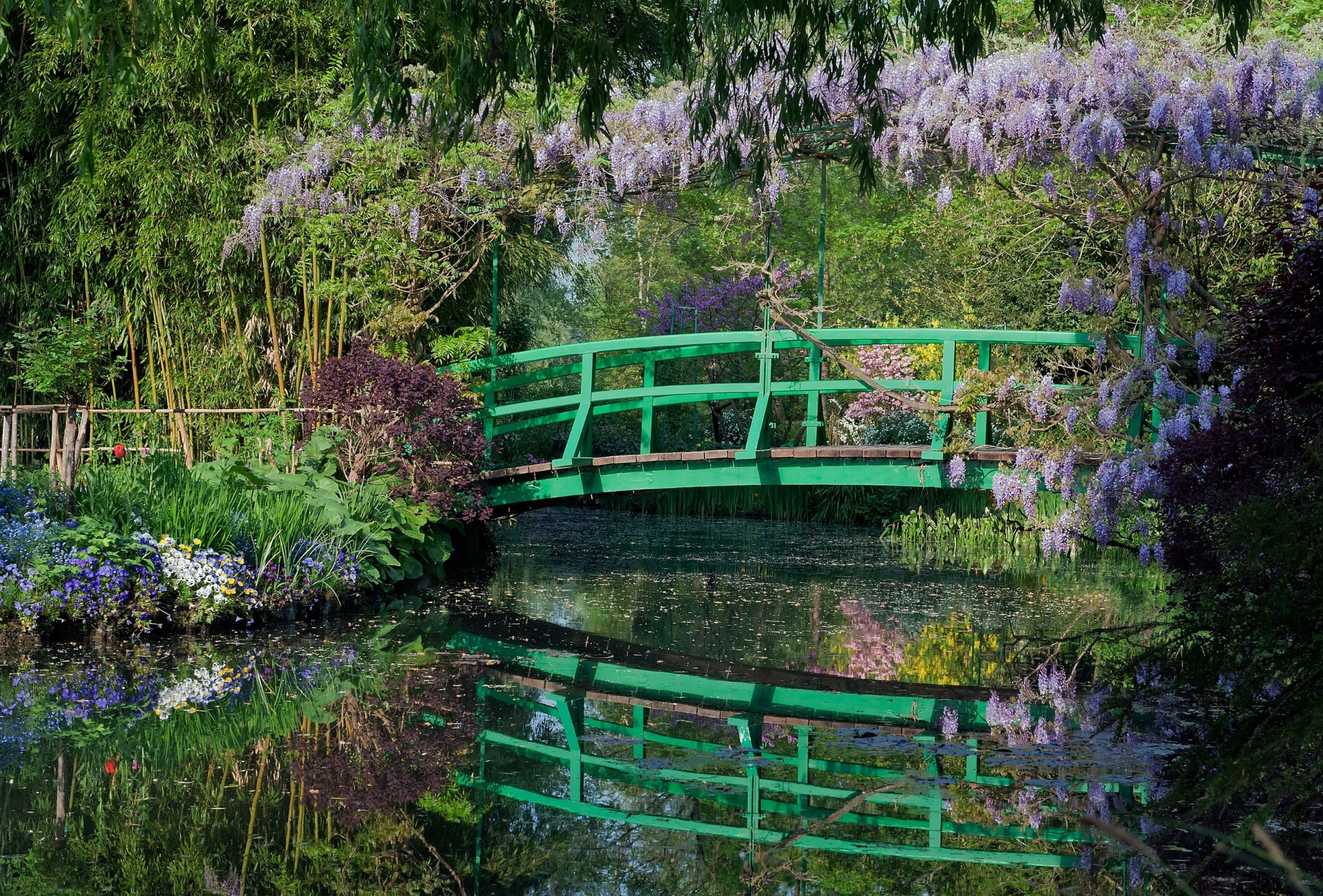 Tuinposter Brug Monet