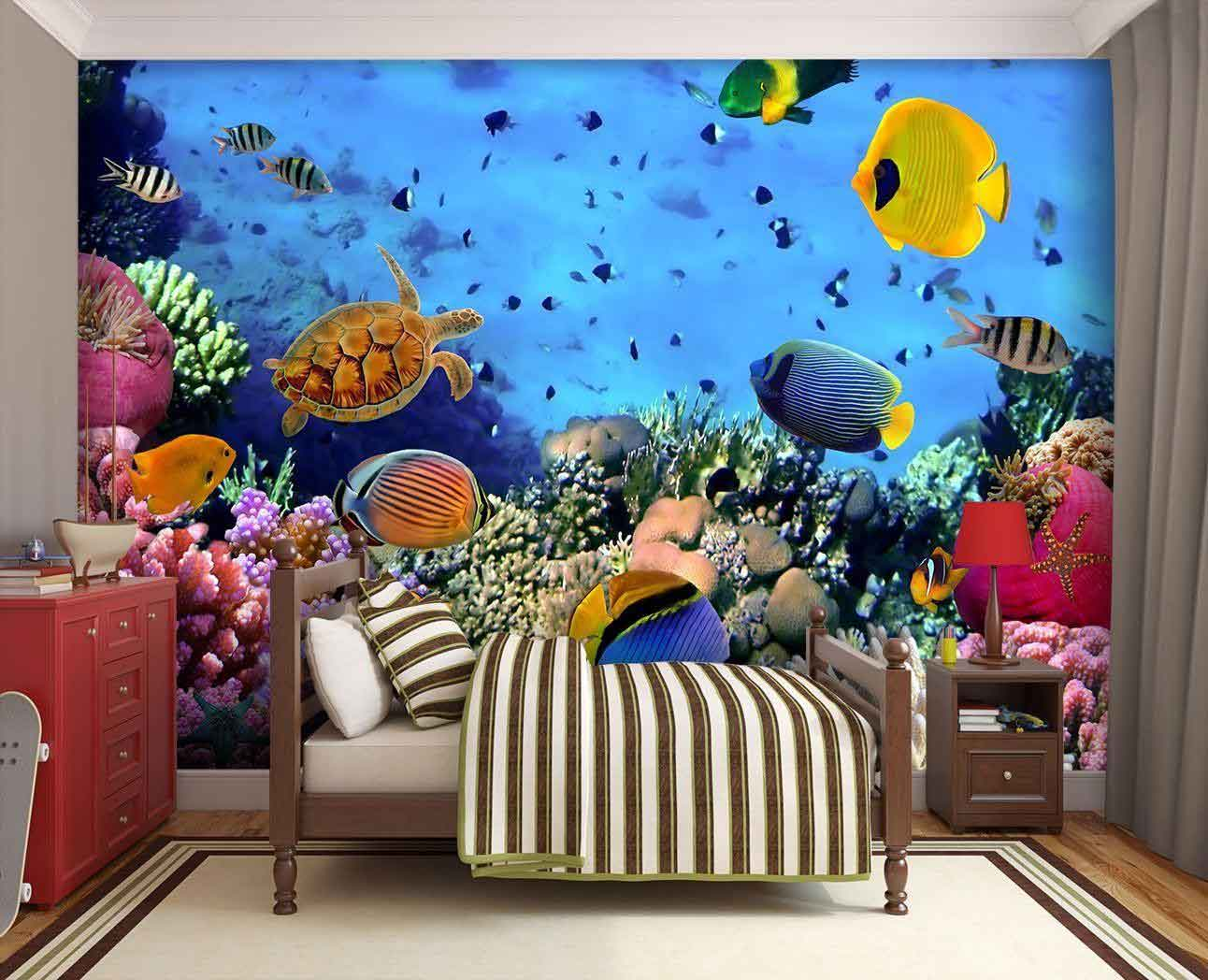 Cheap Wall Murals Uk Walltastic Behang Baby Onderwaterwereld Walltastic In De