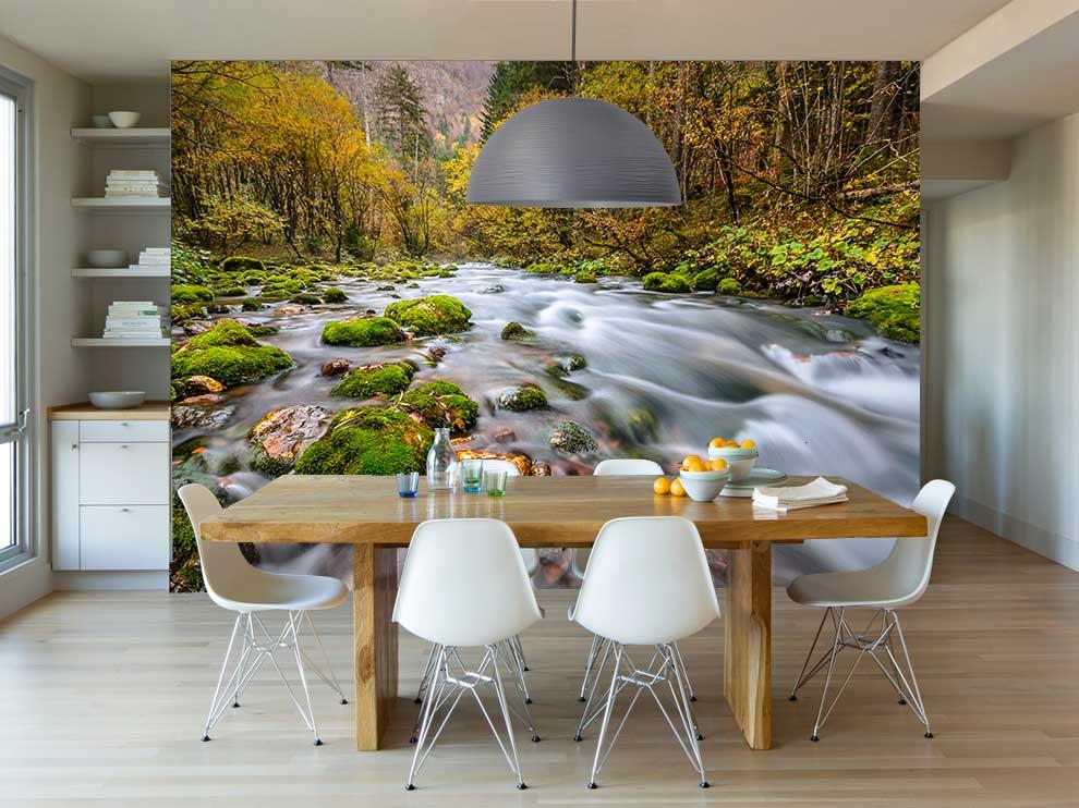 Vlies fotobehang Stromend water