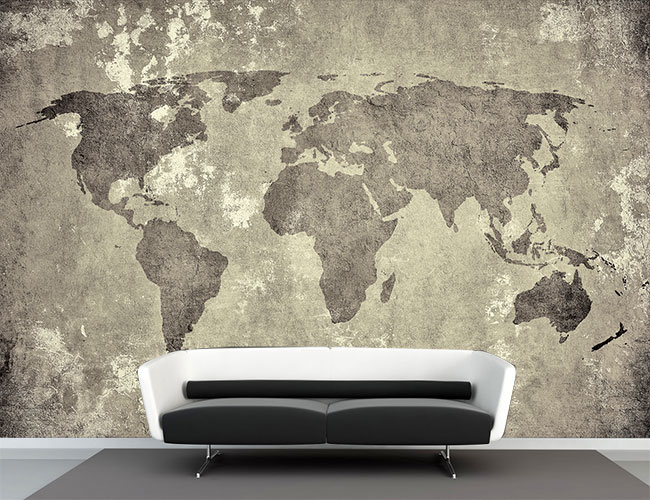 Fotobehang wereldkaart vintage