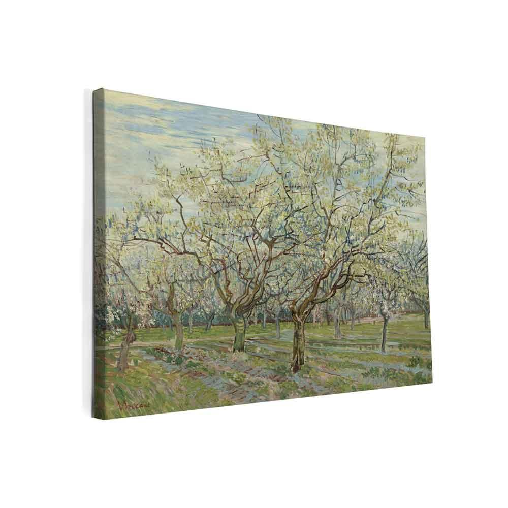 Canvas schilderij witte boomgaard