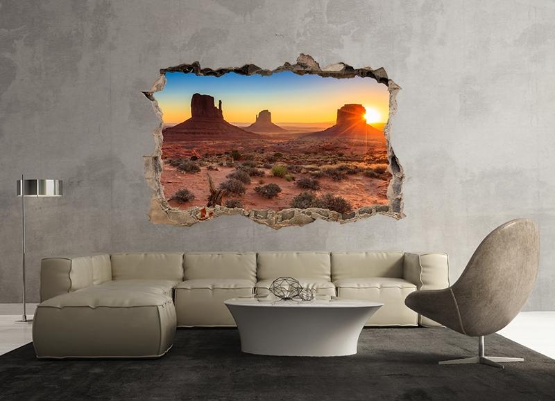 3D Muursticker Woestijnlandschap